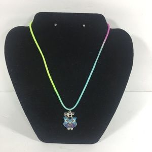 Bff owl charm kids necklace